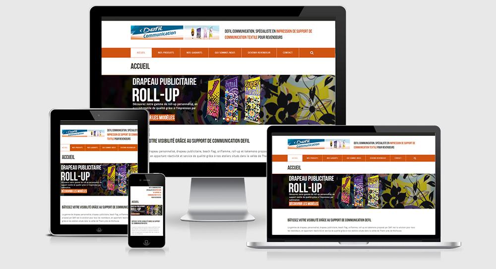 Bienvenue sur notre nouveau site internet defil for Support de communication pour salon