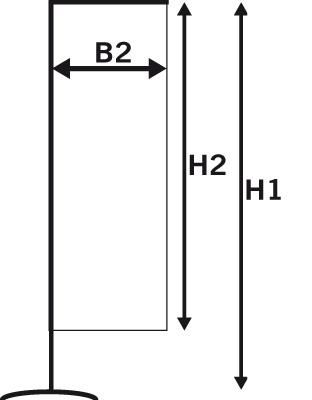 beach flag square dimensions