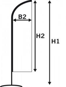 beach flag wind dimensions