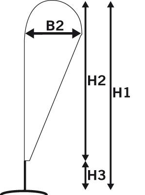 beachflag drop dimensions