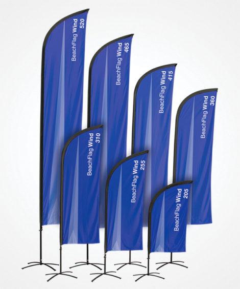 Impression beach flag wind